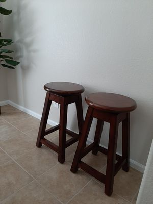 "2 Brown Swivel Counter Stools/Bar Stools-25"" for Sale in Littleton, CO"