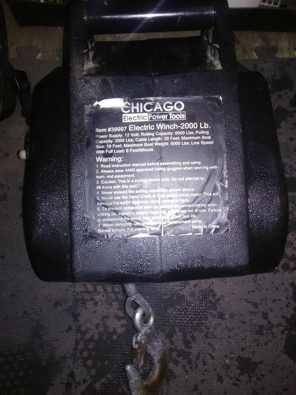 Electric Winch, 2000 Pound