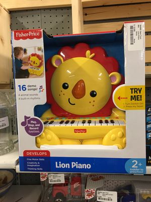 Fisher price lion piano kids toy set new in the box for Sale in New Castle, IN
