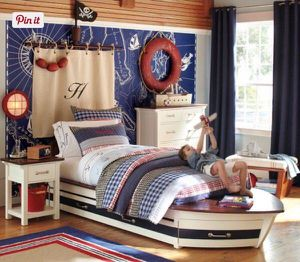 Pottery Barn Kids Speedboat Bedroom Set for Sale in Franklin Park, IL