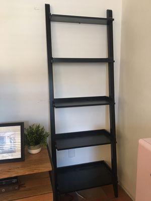 Black ladder bookshelf (2 available) hardwood for Sale in Miami, FL