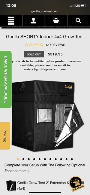 GorillaGrow Shorty Grow tent 4'x4' for Sale in Keizer, OR