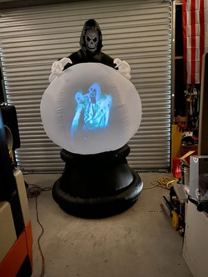 Halloween 👻 Grim Reaper Projector 5 scene motion sound Inflatable for Sale in Upland, CA