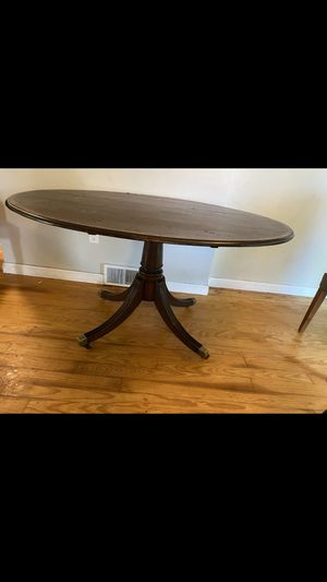 Dining room table on wheels for sale, easy to move for Sale in Taunton, MA