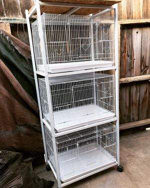 3 bird cages with stand for Sale in Fresno, CA