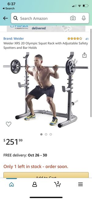 Olympic squat rack for Sale in Fremont, CA