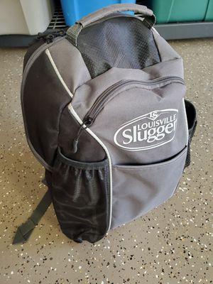 T-ball or baseball backpack, glove, and helmet. $30 for all. Louisville Slugger backpack that holds helmet, bat, etc. for Sale in Phoenix, AZ