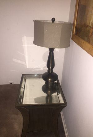 Two end tables and lamp for Sale in Tampa, FL