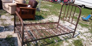 Antique Twin Metal Bed Frame for Sale in Winfield, MO