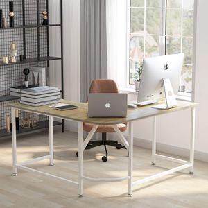 Corner desk brown / white. Perfect condition for Sale in Santa Clara, CA
