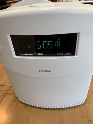 Royal timemaster tc100 time clock for Sale in Penn Valley, PA