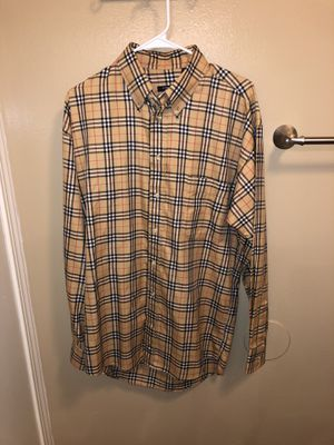 Burberry Shirt Size L for Sale in Stockton, CA