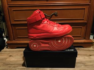 Nike I.D Air Force 1's [All Red] size 11.5 U.S Men for Sale in Beverly Hills, CA