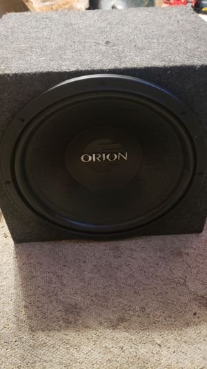 Orion 15in xtr pro dvc sub n single sealed box for Sale in BRUSHY FORK, WV