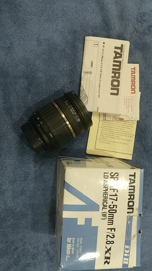 Tamron 17-50mm F2.8 for Nikon Dx lense 55 18 24 for Sale in Westminster, CA