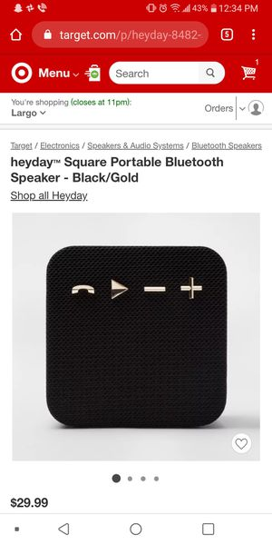 Heyday Portable Bluetooth Speaker (Red) for Sale in Washington, DC