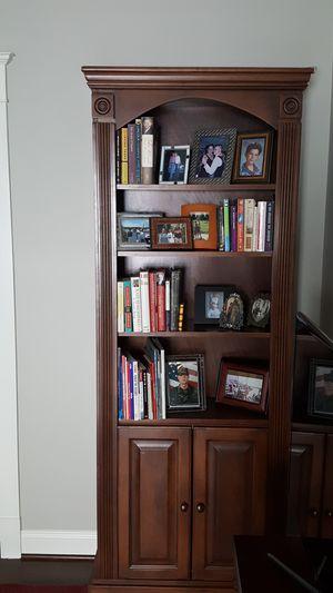 Solid walnut finish bookcase/cabinet for Sale in Richmond, VA