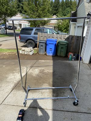 Collapsible rolling clothing rack for Sale in Sandy, OR