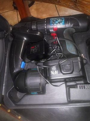 Power Glide 14.4v 3/8 Drill & Flash light w/ some bits in case evrery thing work has lots power for Sale in Ocoee, FL