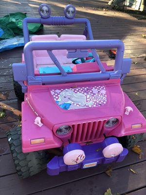 Barbie Jeep Power Wheels for Sale in Braintree, MA