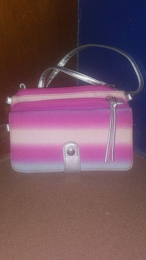Pink, white, and light blue wallet/small handbag for Sale in Galena, OH