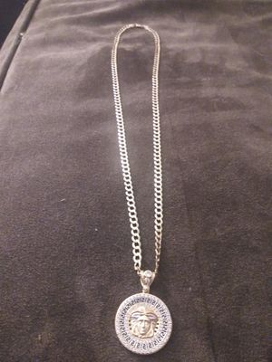 24 inch 14kt gold chain w/ 14kt Versace charm for Sale in St. Petersburg, FL