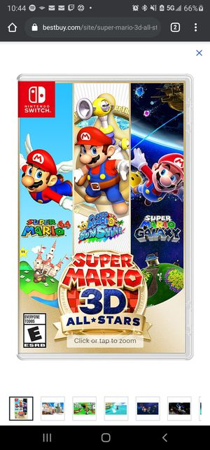 Mario 3D all stars. Brand new for Nintendo switch. $90 for Sale in Baltimore, MD