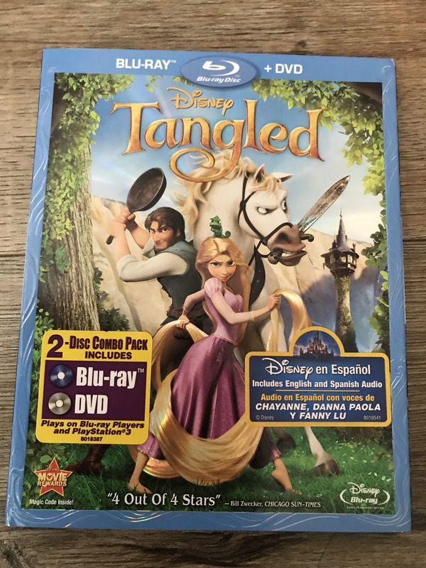 Disney Tangled blu Ray dvd