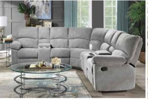 🔥Grey sectional sofa with 2 recliners🔥 for Sale in Winter Haven, FL