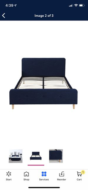 Queen platform bed frame and mattress for Sale in Butte, MT
