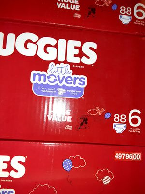Huggies litter movers size 6 88 diapers $33 EACH BOX for Sale in Los Angeles, CA