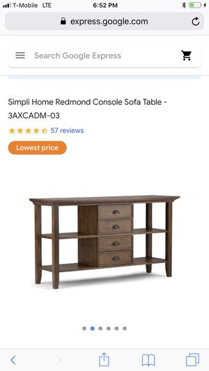 Console sofa table for Sale in Portland, OR
