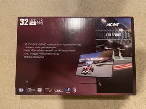 "Acer 32"" Curved 1920x1080 HDMI DP 165hz 1ms Freesync HD LED Gaming Monitor - ED320QR Sbiipx for Sale in Riverside, CA"