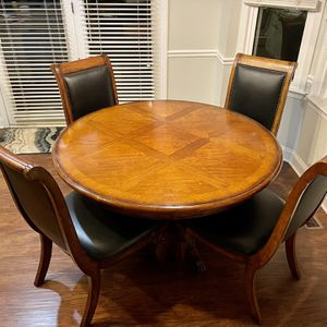 Beautiful Solid Wood Dining Table And Chairs for Sale in Wake Forest, NC