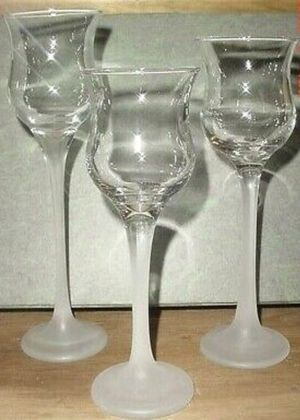 Three stemmed candle holders for Sale in Industry, CA