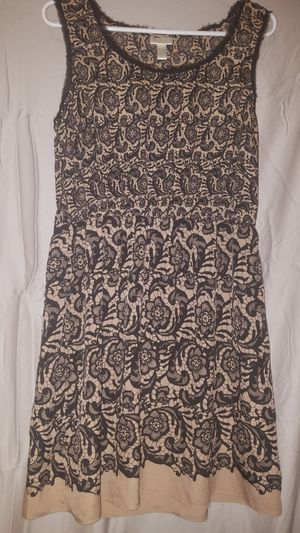 Rodarte dress, size L. Color is nude and black. Antique look for Sale in New Berlin, WI