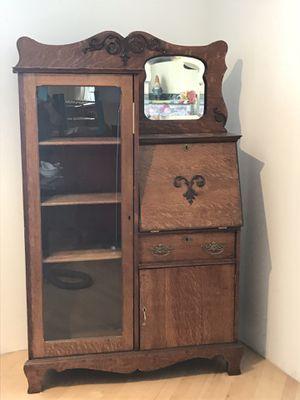Victorian Oak Desk/Display Cabinet for Sale in Anchorage, AK