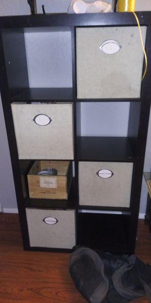 Dark brown storage shelves for Sale in San Jose, CA