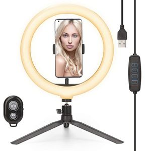 10-inch Ring Light with Stand and Phone Holder, for Sale in Colonial Heights, VA