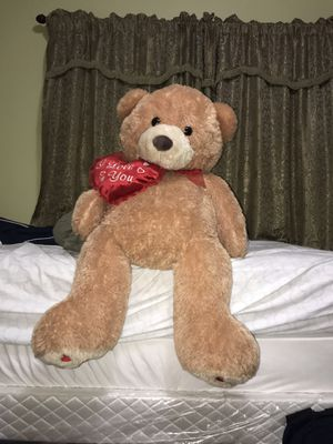 Giant Teddy Bear with heart for Sale in Los Angeles, CA