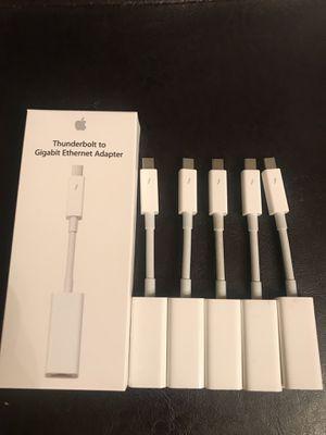 (6) Apple Thunderbolt to Gigabit Ethernet Adapter for Sale in Springfield, VA