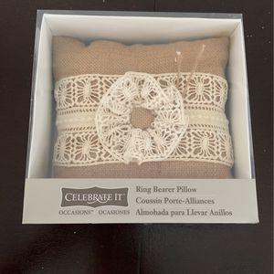 Ring Bearer Pillow In Burlap for Sale in Palm Beach, FL