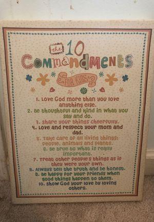Commandments for kids for Sale in Acworth, GA