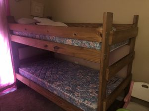 Full Size Bunk Bed. Mattresses INCLUDED for Sale in Tampa, FL