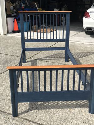 Solid Maple Twin Bed Frame with base for Sale in Snoqualmie, WA