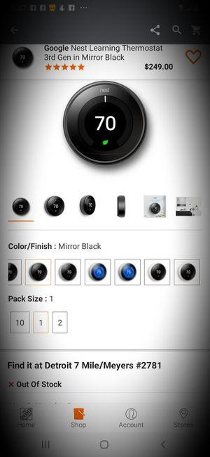 Google Nest Thermostat for Sale in Detroit, MI