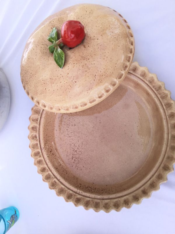 Pie makers pie dish cooking pan with lid