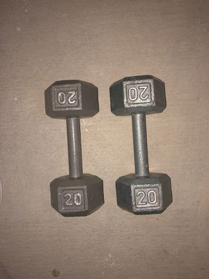 20 lb dumb bells free weights for Sale in Huntington Beach, CA