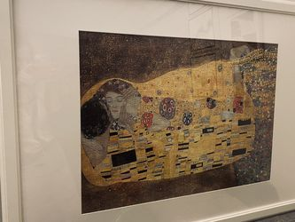 The Kiss Gustav Klimt puzzle painting framed for Sale in Bellevue,  WA