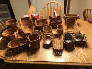 Longaberger 16 basket collection for Sale in Lynnwood, WA